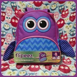 NWT Flipeez Owl Motion Backpack